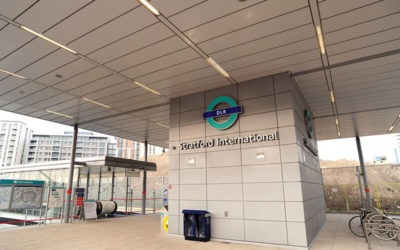 DOCKLANDS LIGHT RAILWAY STATIONS, LONDON: BECKTON CONTROL CENTRE, SHADWELL STATION & STRATFORD INTERNATIONAL CENTRE