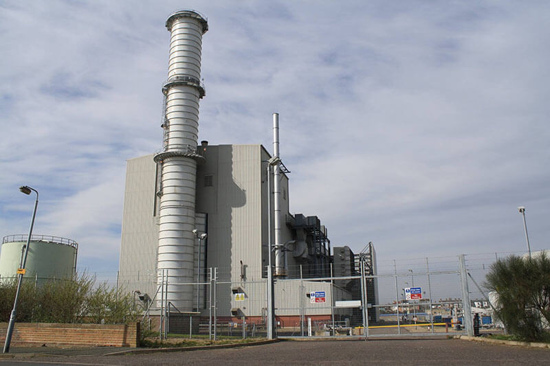 Great Yarmouth Power Station in South Denes