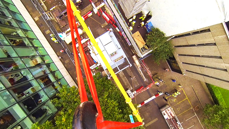 View from crane Imperial College London Service Riser